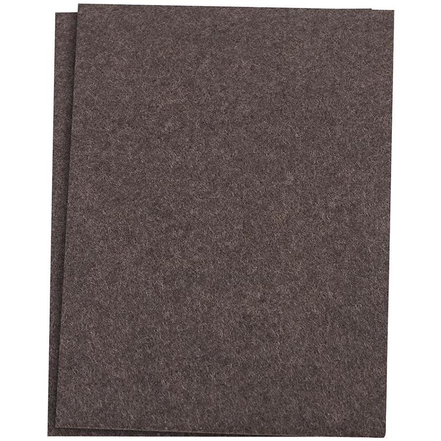Waxman 2-Pack 4-1/2-in x 6-in Brown Square Felt Pad