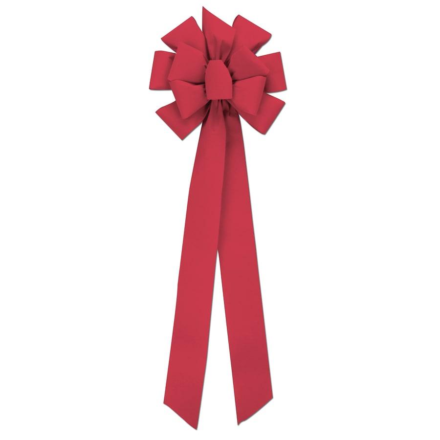Holiday Living Red Velvet Super Decorative Bow