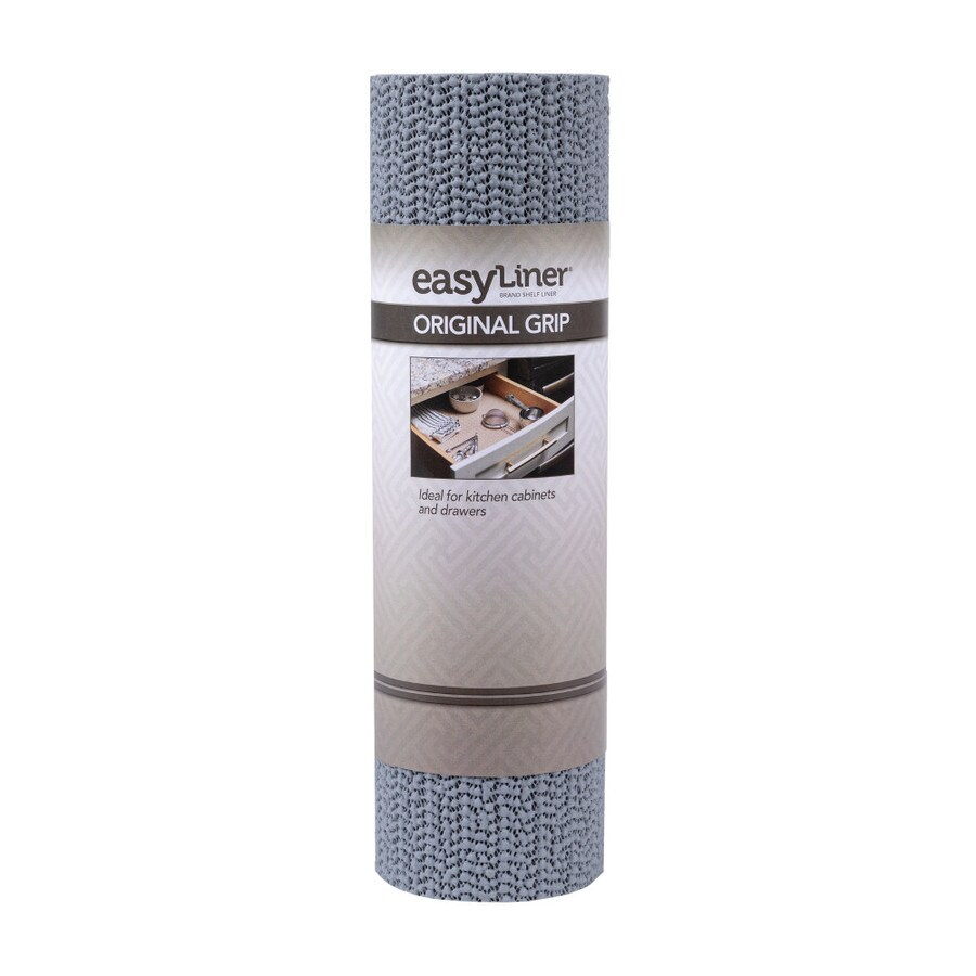Duck 12-in x 14-ft Gray Shelf Liner