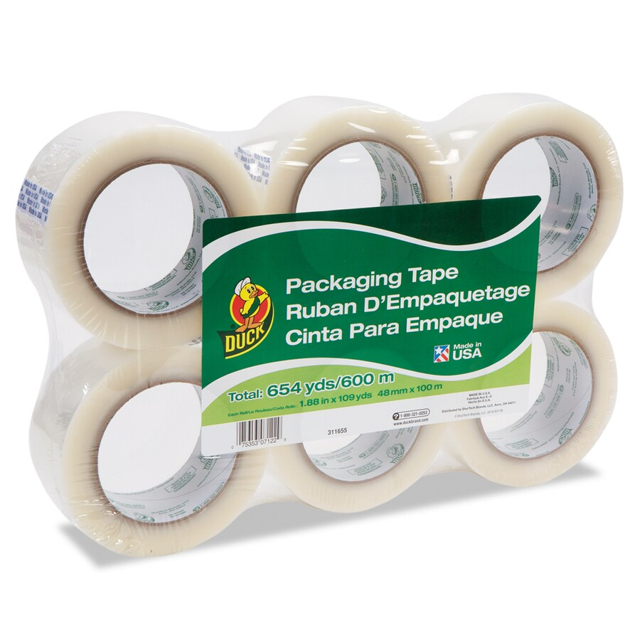 Duck 6-Pack 1.88-in x 327-ft Clear Packing Tape