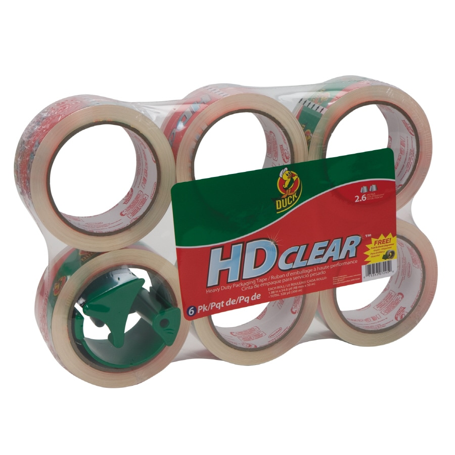 Duck Covers 6 1.88-in x 163.8-ft Clear Packing Tape