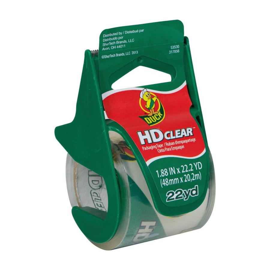 Duck 1.88-in x 66-ft Clear Packaging Tape