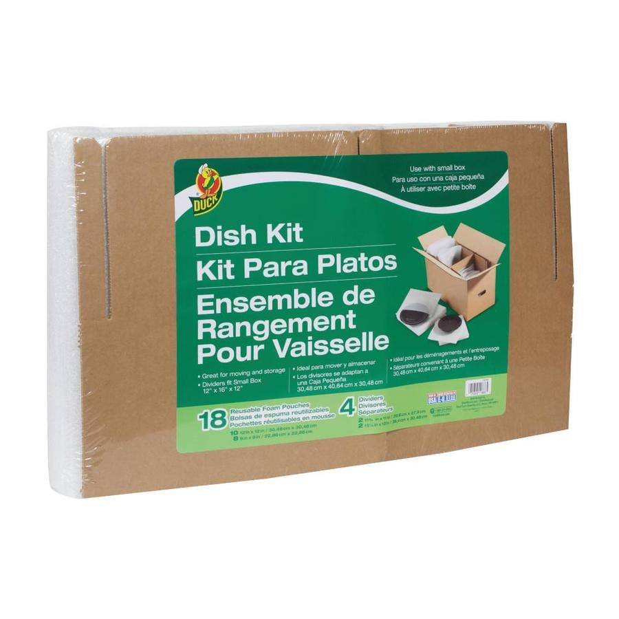 Duck Covers 12-in x 12-in Paper Dish Packing Kit