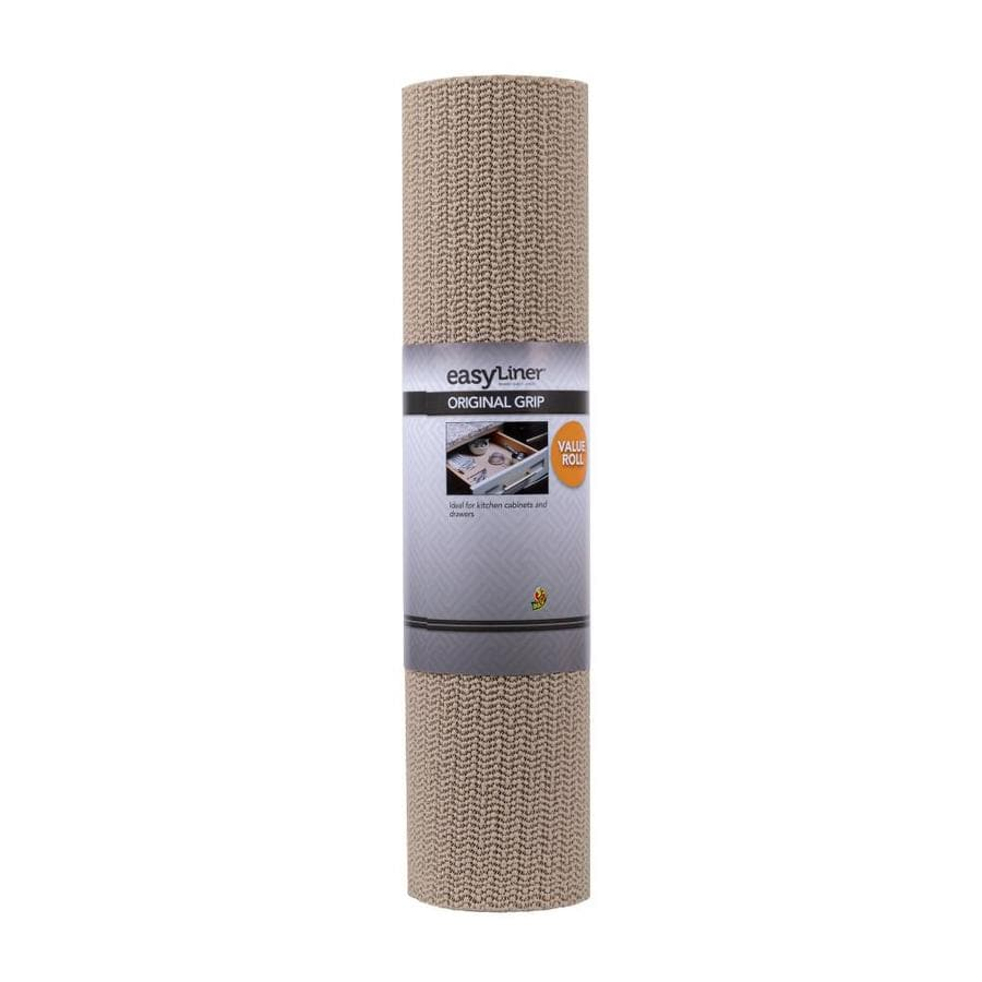 Duck 20-in x 24-ft Taupe Shelf Liner