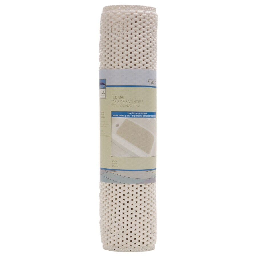 Style Selections White Soft Bathtub Mat