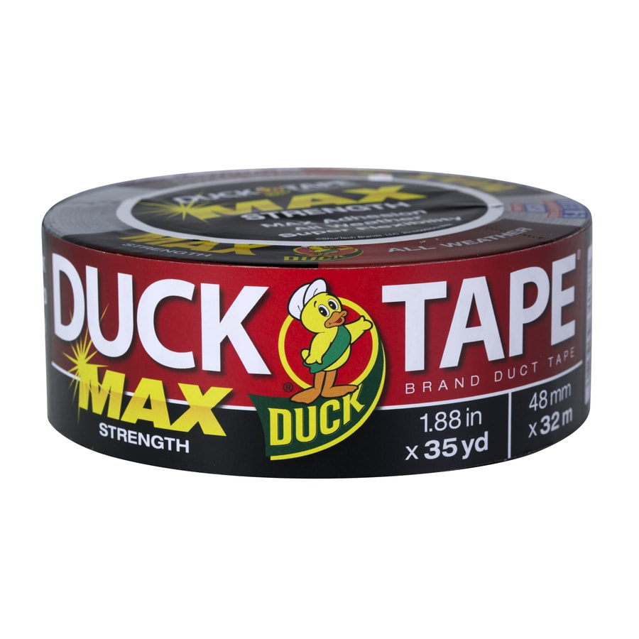 Duck 1.88-in x 105-ft Black Duct Tape