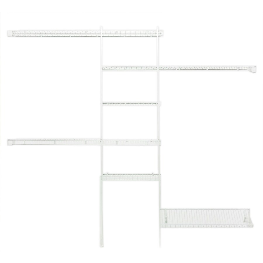 ClosetMaid 8-ft x 12-in White Fixed Mount Shelving Kit