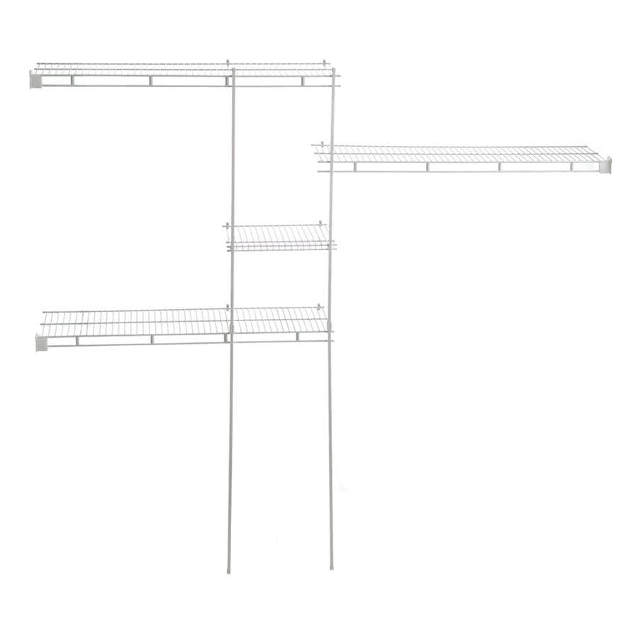 ClosetMaid 8-ft W x 12-in D White Fixed Mount Shelving Kit