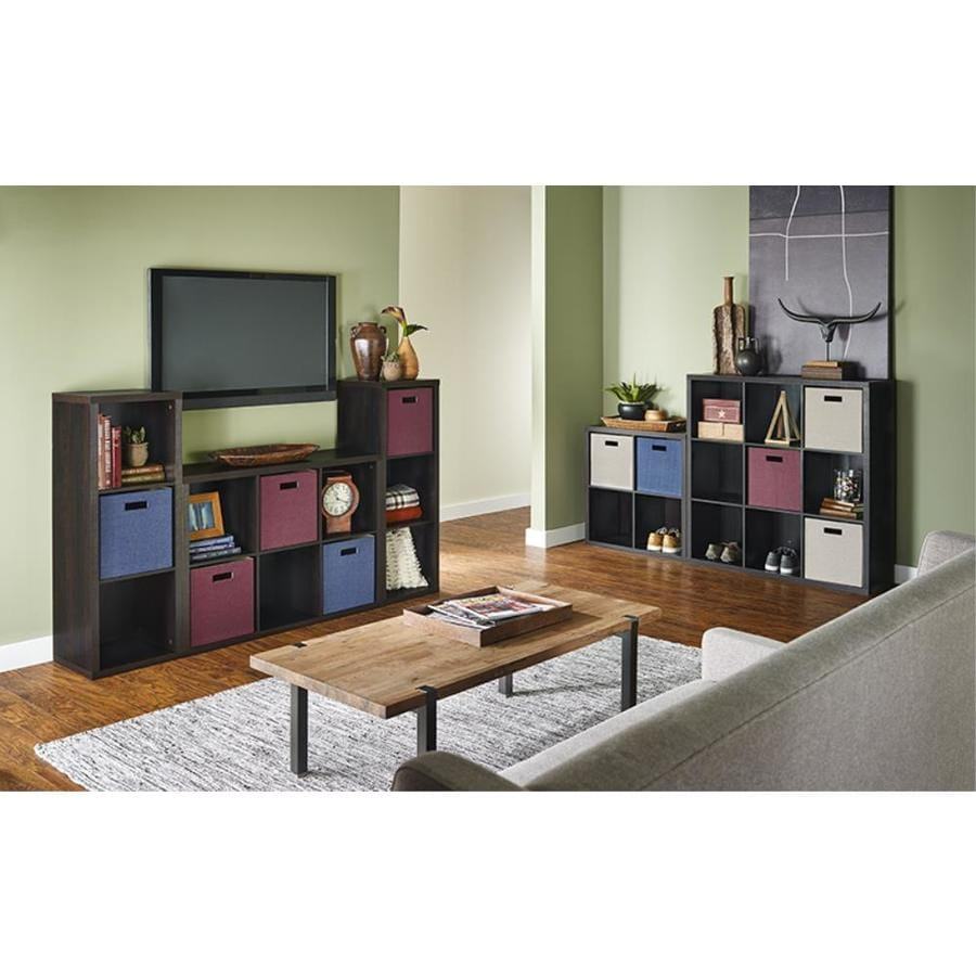 ClosetMaid 4107 Decorative Storage 3 Cube Organizer Black Walnut