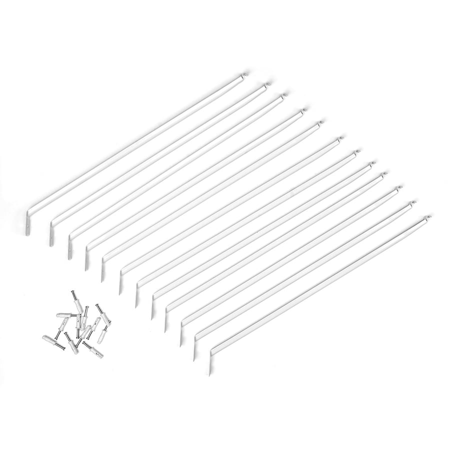 ClosetMaid 12-Pack-in White Long Rectangle Shelving Hardware