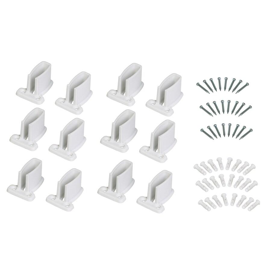 ClosetMaid 2-Pack-in White Rectangle Shelving Hardware