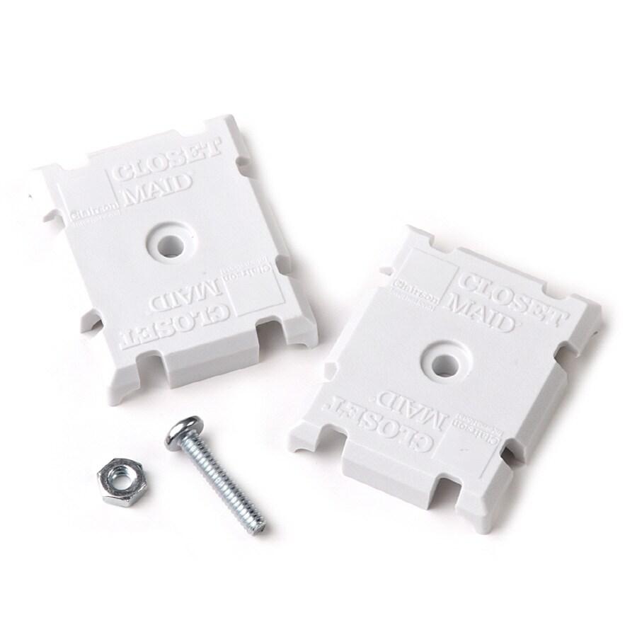 ClosetMaid 1-Pack-in White Rectangle Shelving Hardware