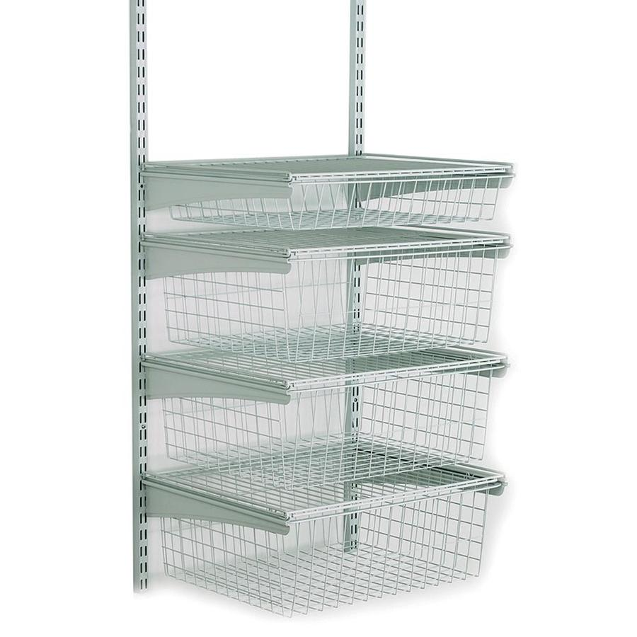 ClosetMaid 21-in W x 27-in H 4-Drawer White Metal Drawer