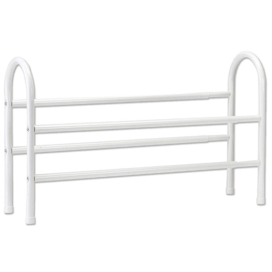 ClosetMaid 8 Pair White Metal Shoe Rack