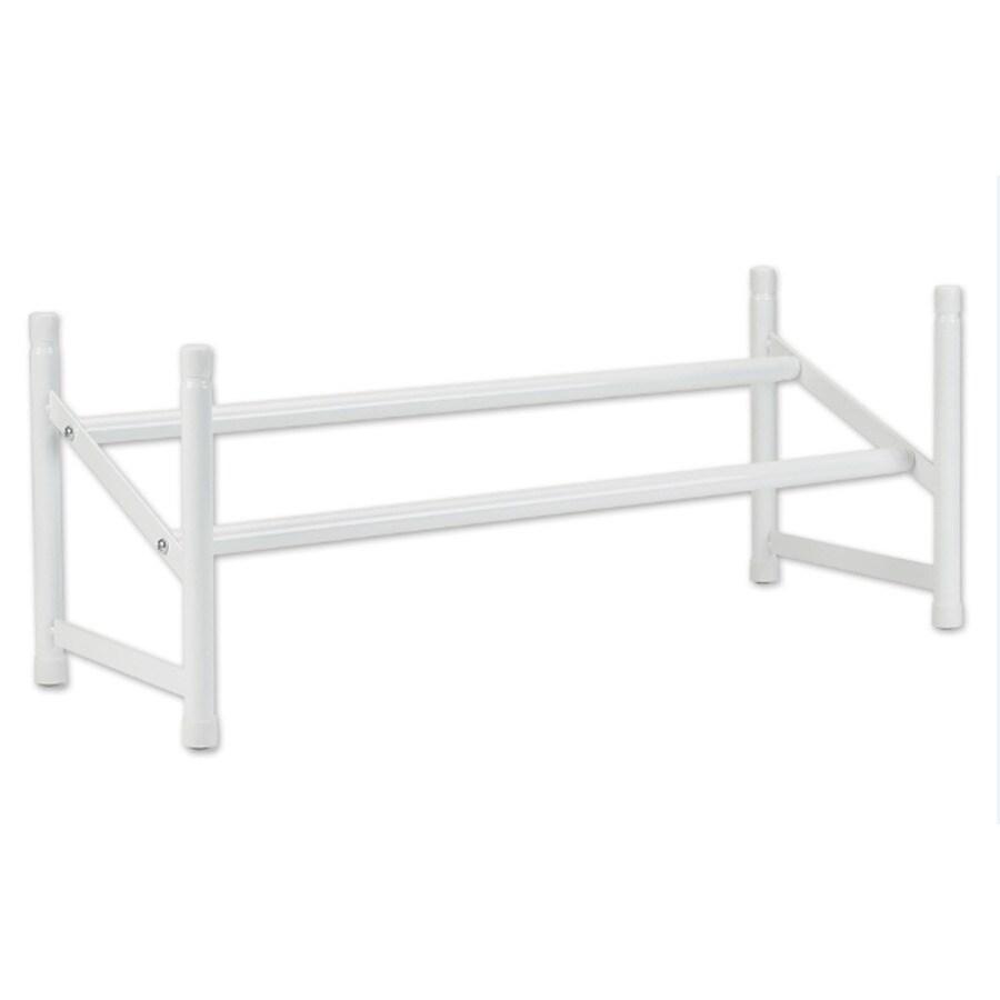 ClosetMaid 5 Pair White Metal Shoe Rack