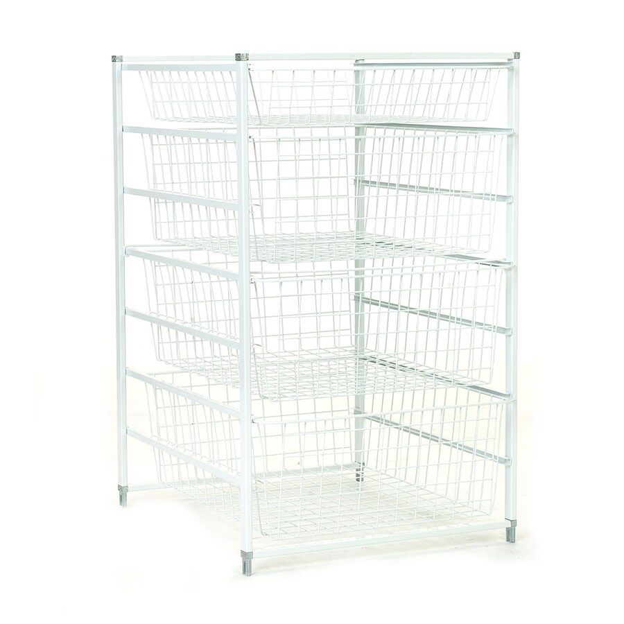 ClosetMaid 17.75-in W x 29.318-in H x 21-in D White Steel Basket