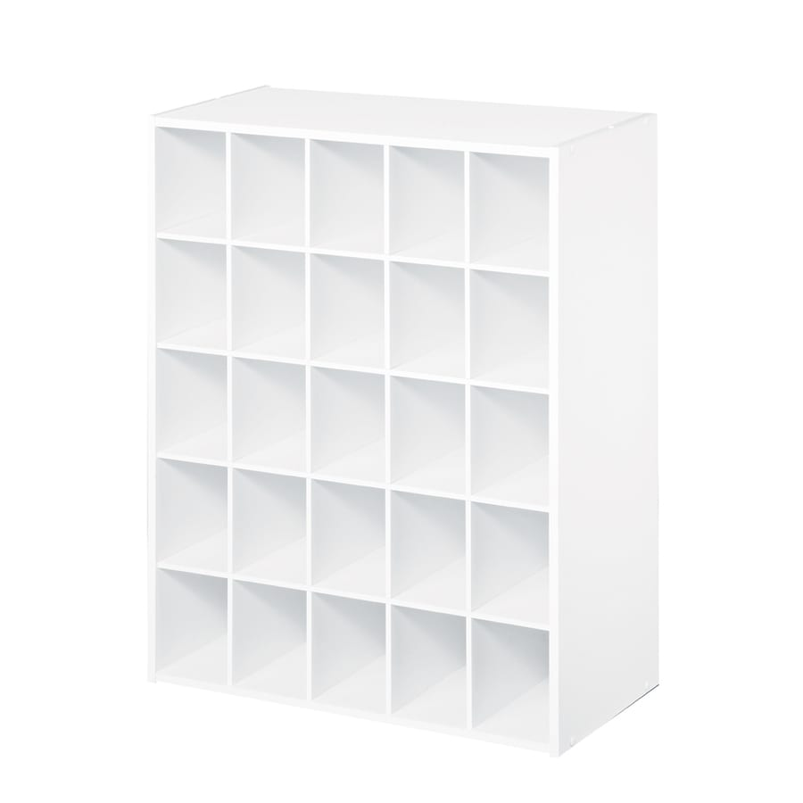 shop closetmaid 25 white laminate storage cubes at lowes