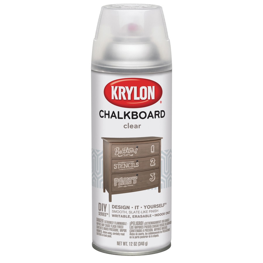 Shop Krylon Clear Chalkboard Enamel Spray Paint Actual Net Contents 12 Oz At