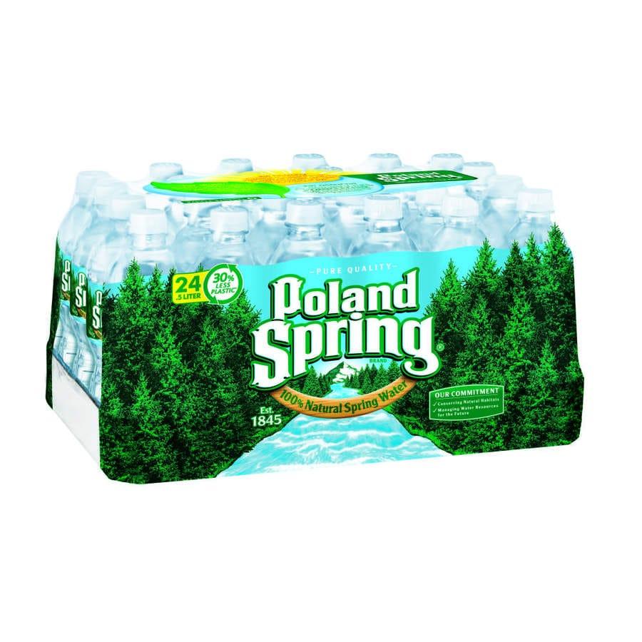 Poland Spring 24-Pack 16.9-fl oz Spring Water