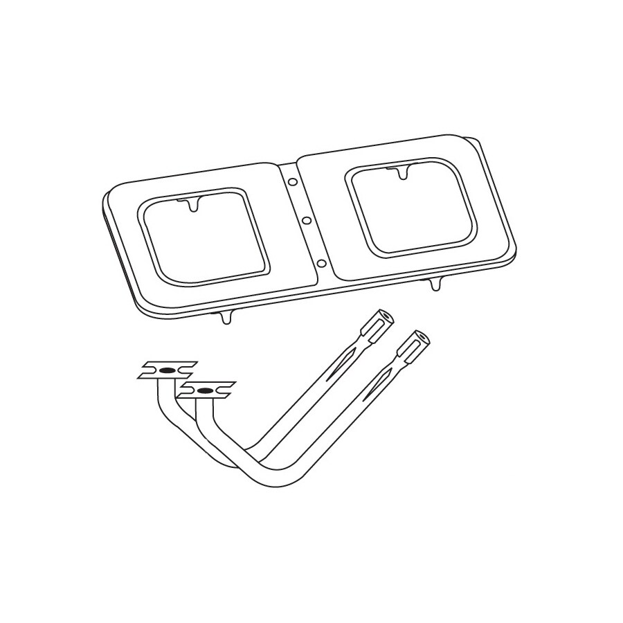 Heavy Duty BBQ Parts 14.625-in Stainless Steel Bar Burner