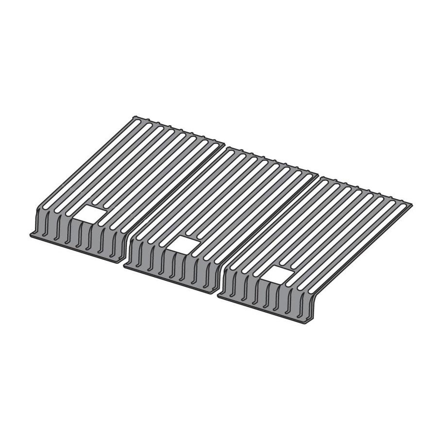 Heavy Duty BBQ Parts 3-Pack Rectangle Porcelain-Coated Cast Iron Cooking Grate