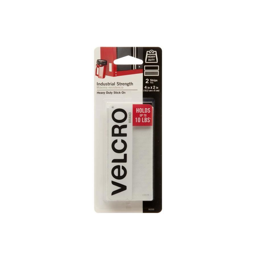 VELCRO 2-in x 4-in White Rectangle Fastener