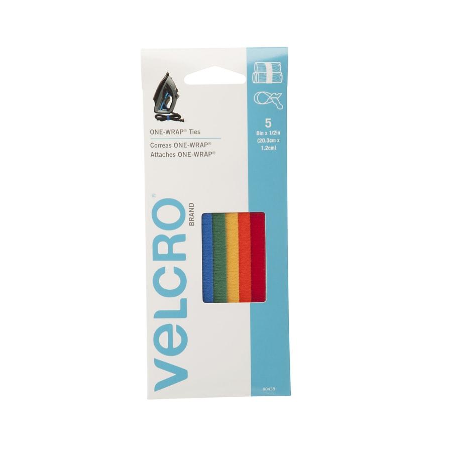 VELCRO 0.5-in x 8-in Multicolor Rectangle Fastener
