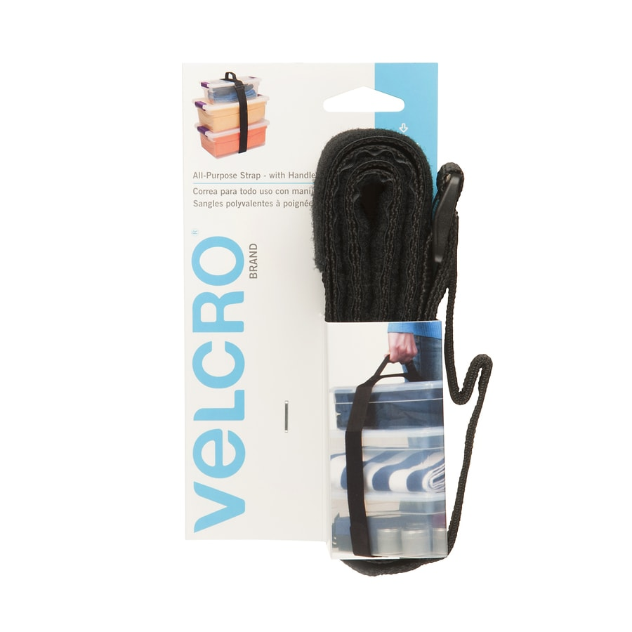 VELCRO 2-in x 72-in Black Rectangle Fastener