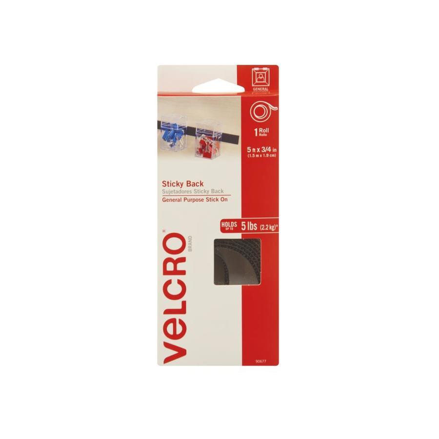 VELCRO 0.75-in x 60-in Black Rectangle Fastener