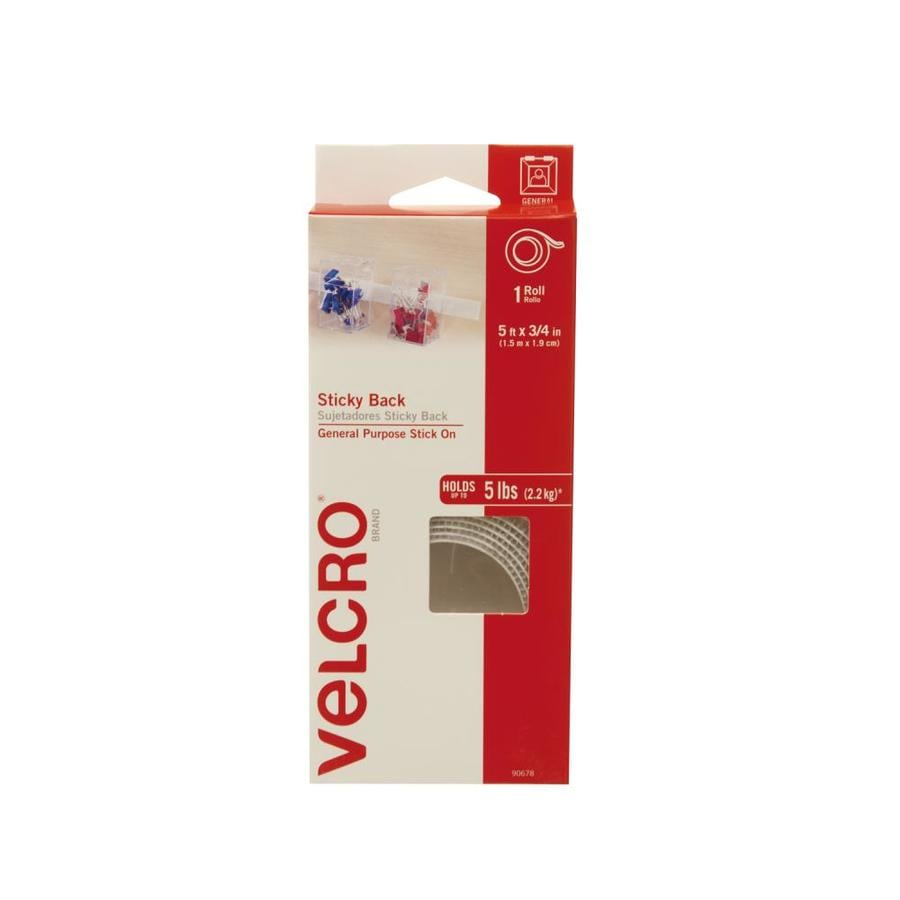 VELCRO 0.75-in x 60-in White Rectangle Fastener