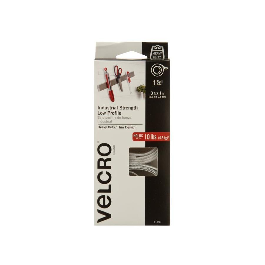 VELCRO 1-in x 36-in White Rectangle Fastener