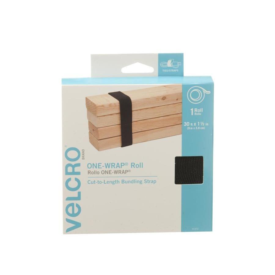 VELCRO 1.5-in x 360-in Black Rectangle Fastener