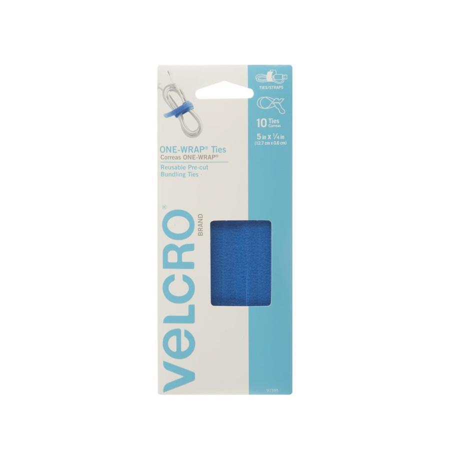 VELCRO .25-in x 5-in Blue Rectangle Fastener