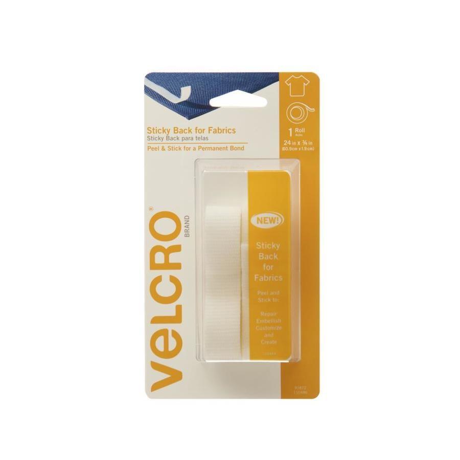 VELCRO 0.75-in x 24-in White Rectangle Fastener