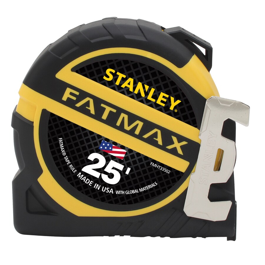 Stanley FatMax 25-ft Yellow Abs and Black Rubber Steel Long Tape