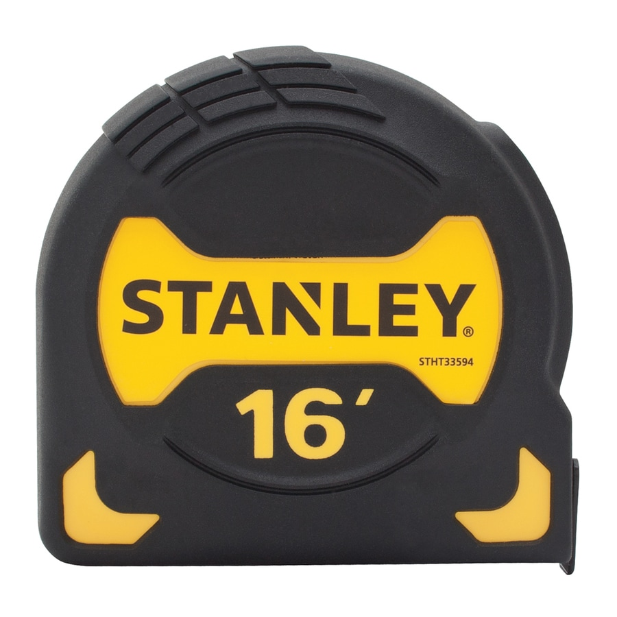 Stanley 16-ft Yellow ABS and Black Rubber Steel Long Tape