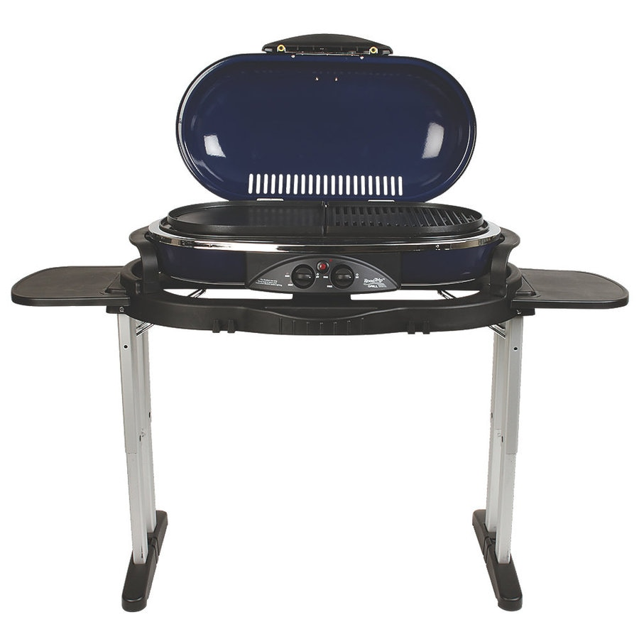 Shop coleman blue 20 000 btu 285 sq in portable gas grill - Coleman small spaces bbq decoration ...