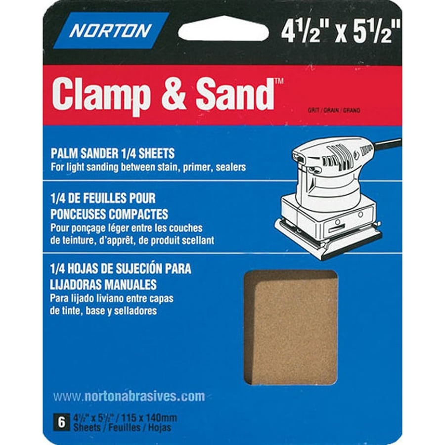 Norton 4-Pack 5.3-in W x 6.5-in L 40-Grit Commercial Sandpaper Sheets