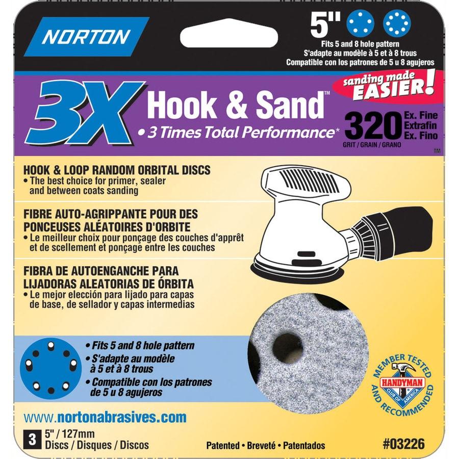 Norton 3-Pack W x L 320-Grit Commercial Disc Sandpaper