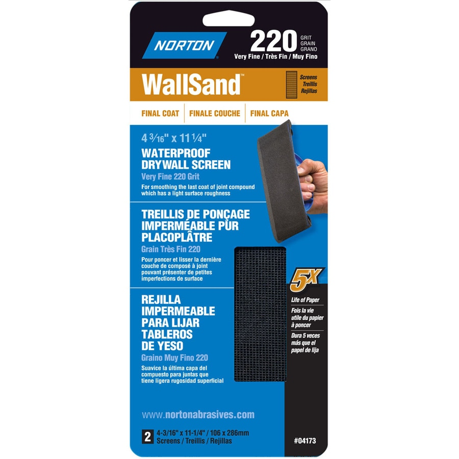 Norton 4.187-in W x 11.25-in L 220-Grit Industrial Sanding Screen Sandpaper