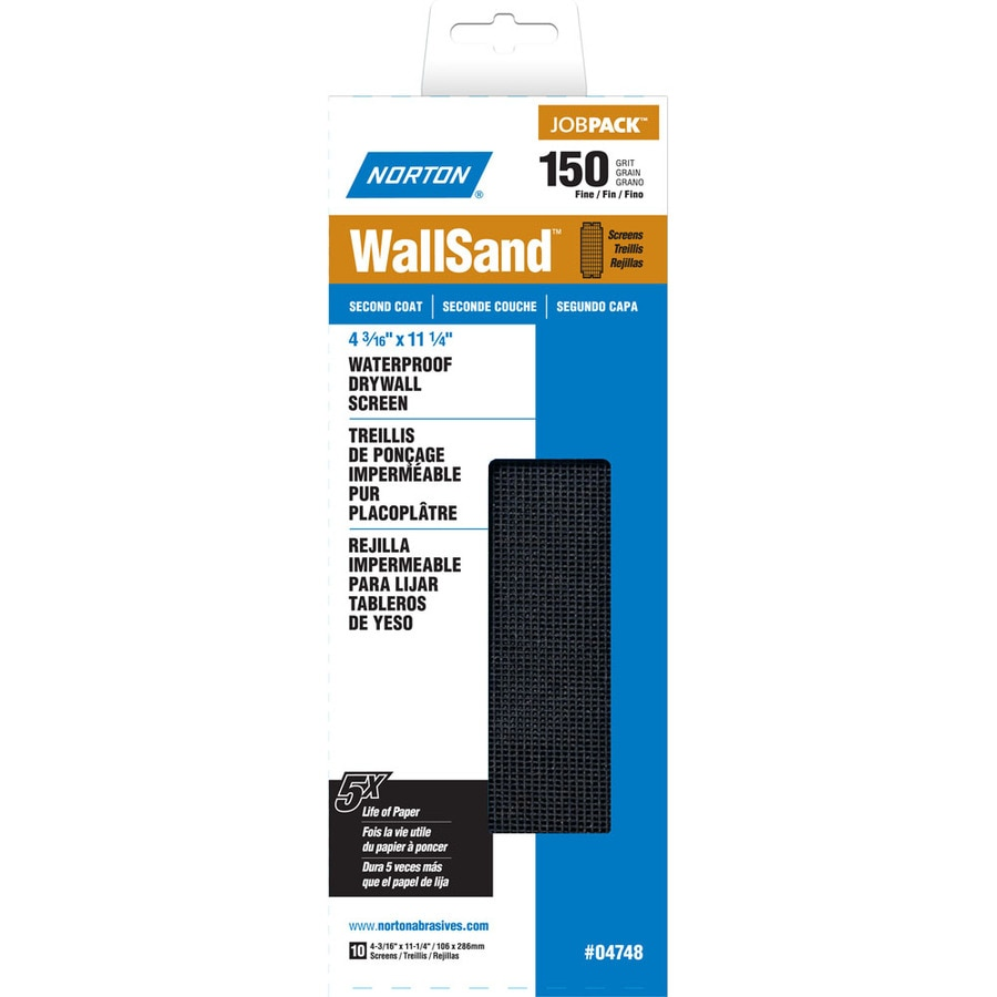 Norton 4.187-in W x 11.25-in L 150-Grit Industrial Sanding Screen Sandpaper