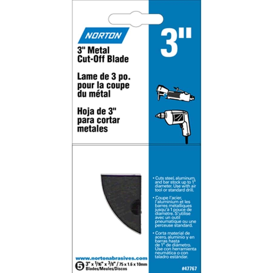 Norton 5-Pack 3-in W x 6.5-in L 36-Grit Commercial Cut Off Blade Sandpaper