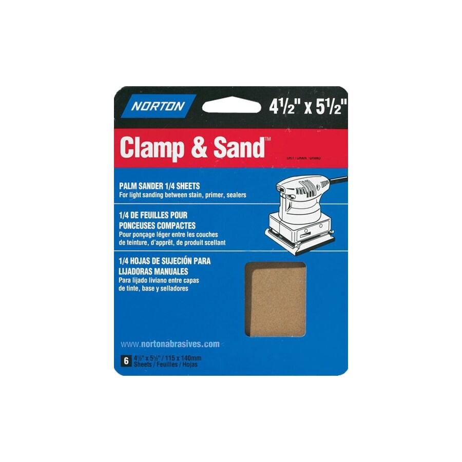 Norton 6-Pack 150-Grit 5.3-in W x 6.5-in L Sheet Sandpaper