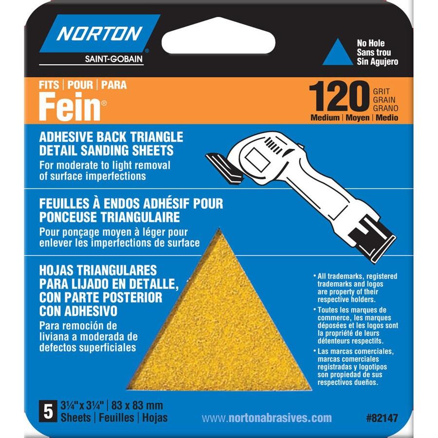 Norton 6-Pack W x L 120-Grit Commercial Detail Sandpaper Sheets