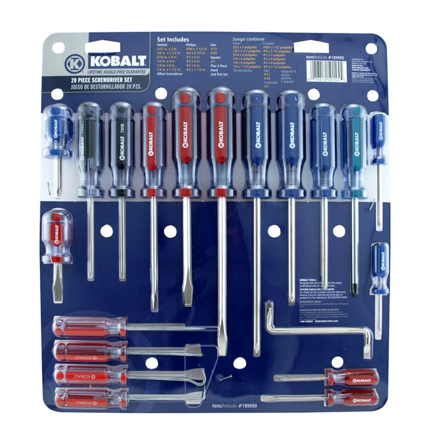 Kobalt 20-Piece Variety Pack Screwdriver Set
