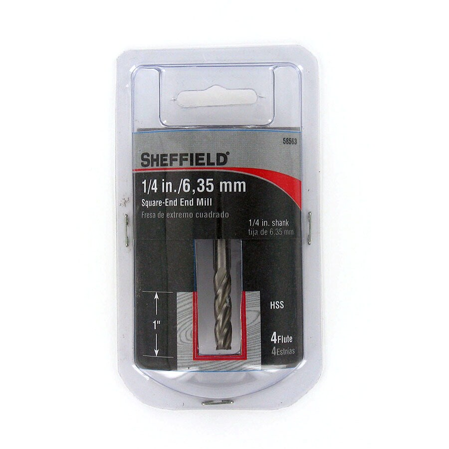 Sheffield 1/4-in High Speed Steel Upcut Spiral Bit