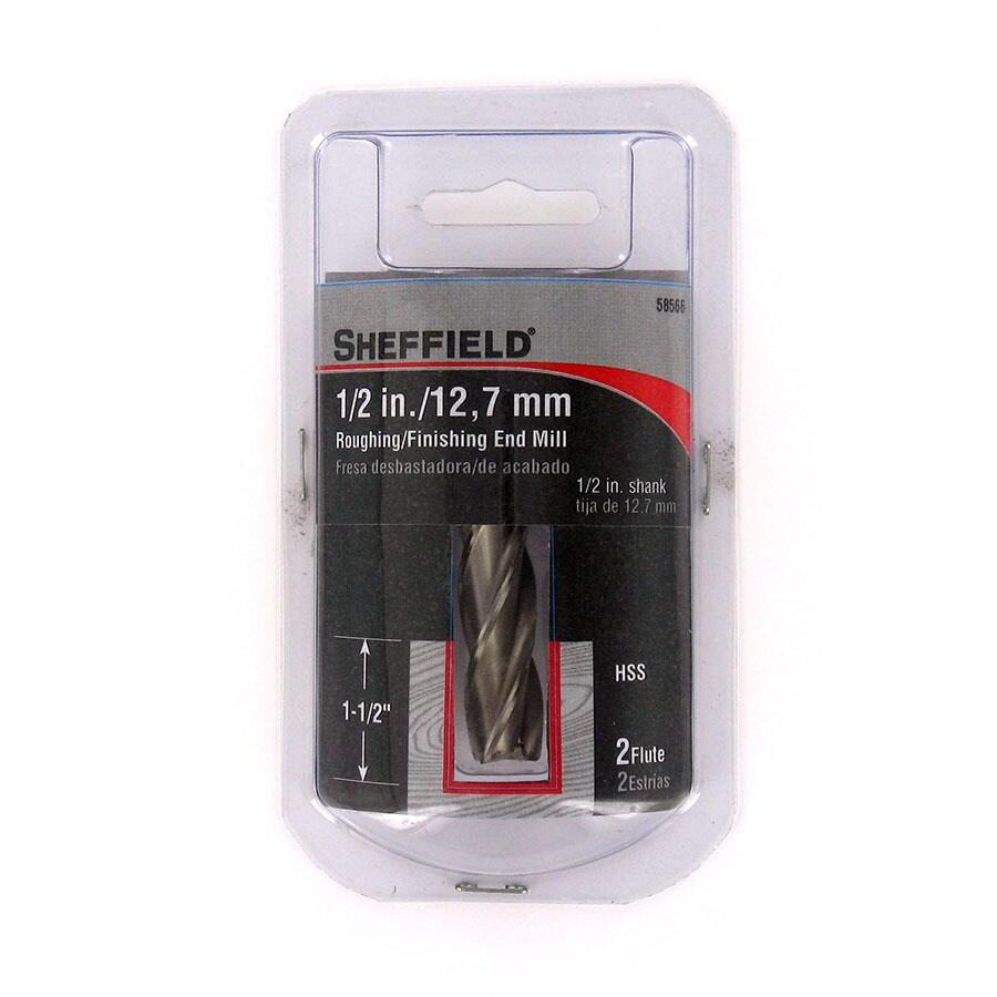 Sheffield 1/2-in High Speed Steel Upcut Spiral Bit