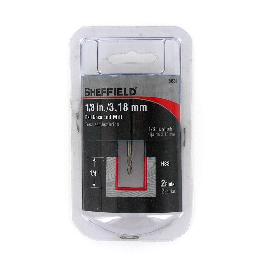 Sheffield 1/8-in High Speed Steel Upcut Spiral Bit