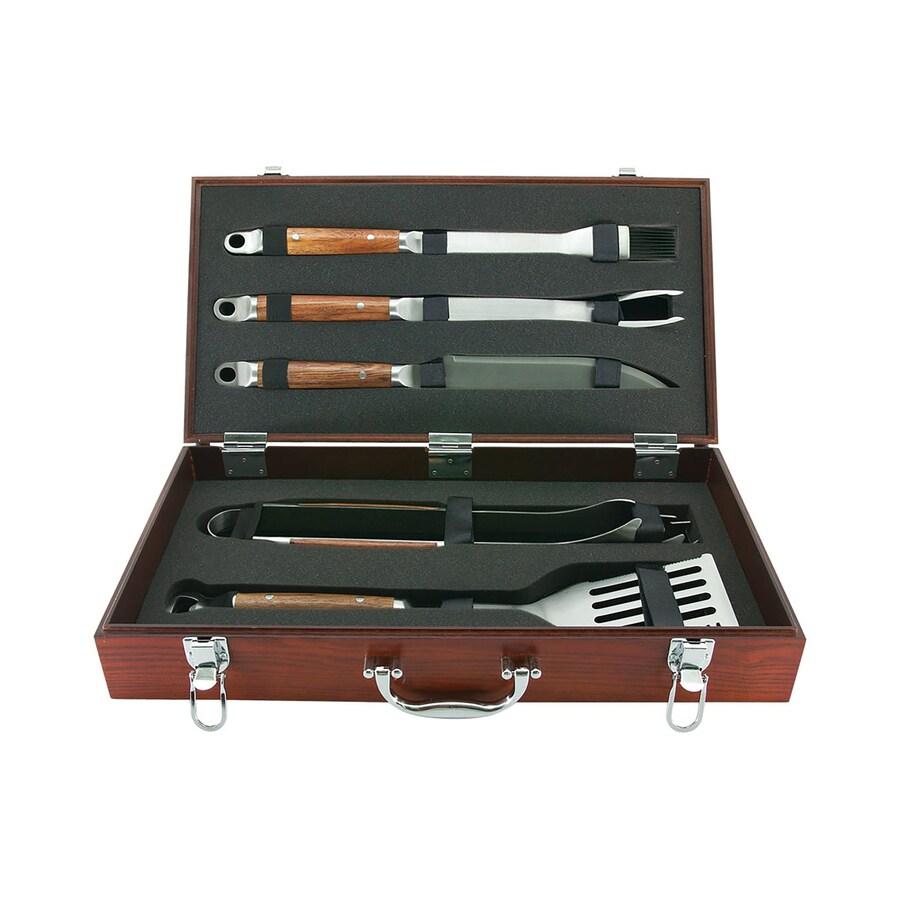 shop mr bar b q 5 piece grilling tool set at. Black Bedroom Furniture Sets. Home Design Ideas