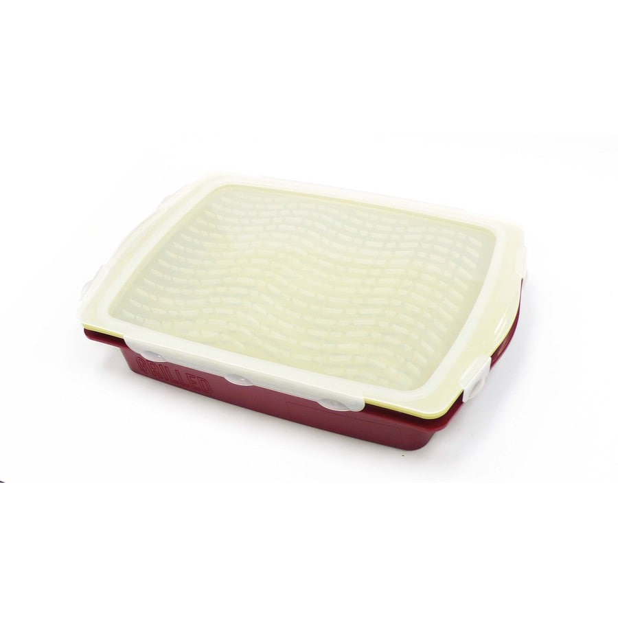 Mr. Bar-B-Q Red Poly Rectangle Food Cover